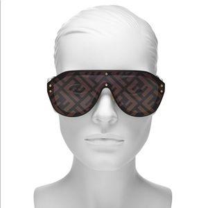 Fendi logo shield sunglasses